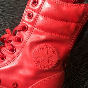 Converse Shoes - Red Converse high tops
